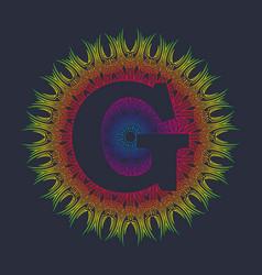 Capital letter g alphabet as a monogram vector