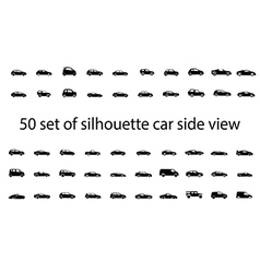 Car side view set vector