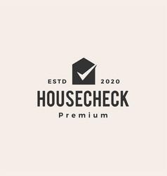 Check house hipster vintage logo icon vector