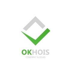 Check mark logo Ok logo design Yes logo vector