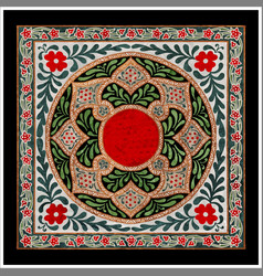 colorful islamic illumination for mosque tiling vector image