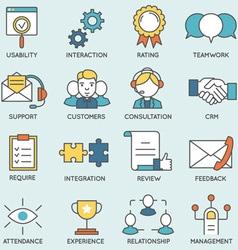 Customer relationship management - part 2 vector