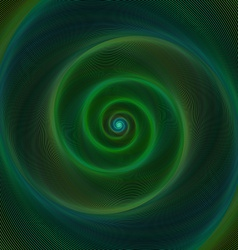 Dark green neon light spiral background vector