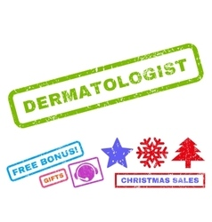 Dermatologist Rubber Stamp vector