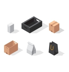 Different box icons vector image