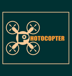 drone quadrocopter icon photocopter text vector image