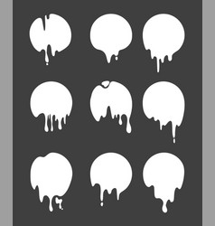 drops and strokes black paint isolate vector image