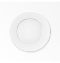 Empty plate isolated on white background vector image