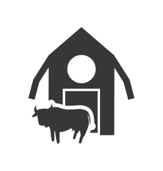 Farm building silhouette design vector