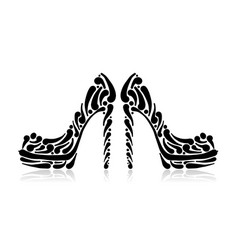 fashion shoes for your design vector image