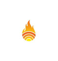 Fire wifi logo icon design vector