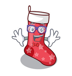 Geek cartoon christmas socks for gifts christmas vector