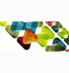 geometric abstract background triangles vector image
