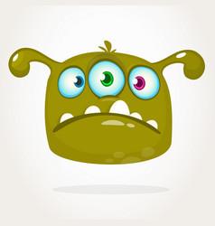 happy cartoon three eyed alien vector image
