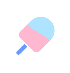 ice cream flat colour icon in simple style vector image