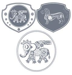 Icon mechanical elephant vector image