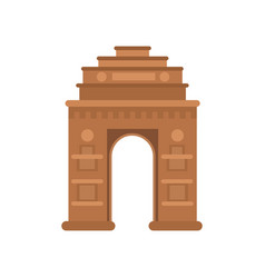 India gate in delhi famous monument of india vector