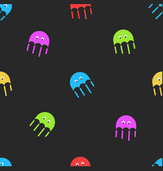 Jellyfish seamless pattern cute random colorful vector