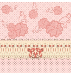 lace greeting card vector image