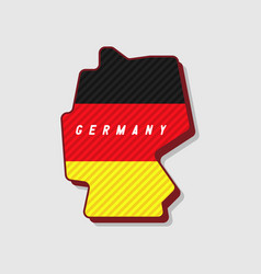 map of germany modern 3d style vector image