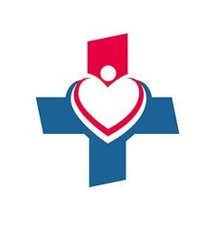 Medical logo Icon Healthy concept Love vector