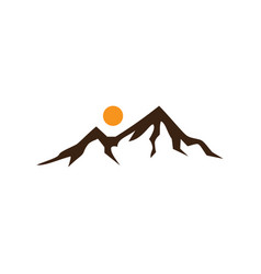 mountain sign logo image vector image