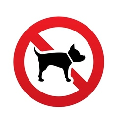 No Dog sign icon Pets symbol Prohibition sign vector