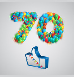 Number of likes made by balloon vector