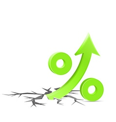Percent up sign vector image