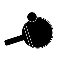 Ping pong paddle ball pictogram vector