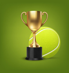 realistic 3d blank golden champion cup vector image