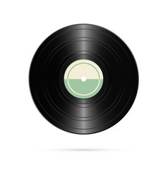realistic vinyl record retro design vector image