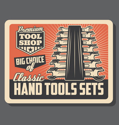 Repair and construction hand tools workshop vector