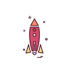 rocket icon design vector image