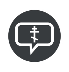 Round orthodox cross dialog icon vector