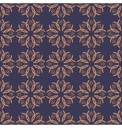 Seamless with vintage floral pattern vector image