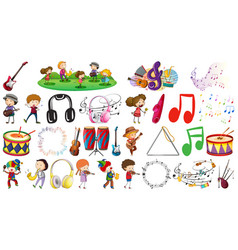 set music object vector image