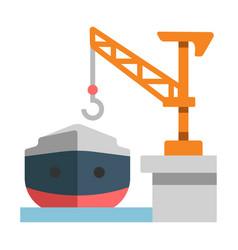 Shipyard flat vector