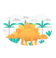 Stegosaurus flat graphic vector