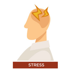 stress symptom with pain lightning signs vector image