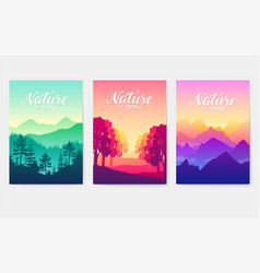sunrise over the beauty of nature mountain ranges vector image