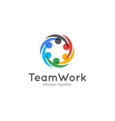 Teamwork icon business concept team work logo vector