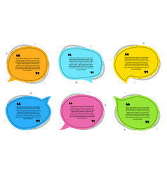 Texting speech bubbles quote text design info vector