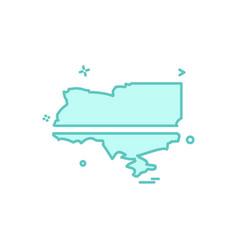 ukraine icon design vector image