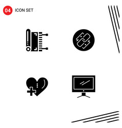 User interface pack 4 basic solid glyphs vector