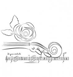 Violin lines vector