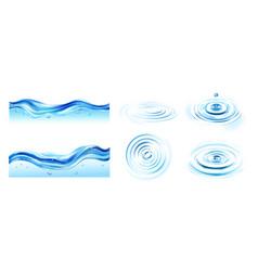 Water ripple set vector