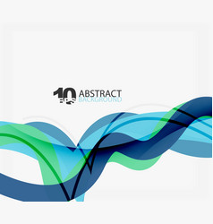 wave lines abstract background vector image
