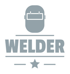 Welder mask logo simple gray style vector