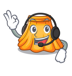 with headphone skirt in a on character beautiful vector image